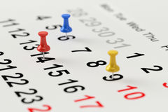 Calendar concept for busy, appointment and meeting reminder. Royalty Free Stock Photography