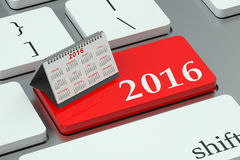 2016 calendar concept on the keyboard. 2016 calendar concept on the white keyboard Stock Photography