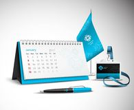 Calendar Corporate Identity Mockup Set Stock Photography