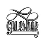 2 0 1 8 calendar cover, lettering composition. Illustration Royalty Free Stock Image
