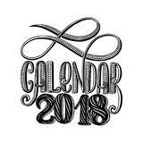 2 0 1 8 calendar cover, lettering composition. Vector illustration royalty free illustration