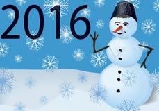 Calendar cover snowman Stock Image