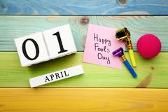 Calendar cubes with inscription stock photo