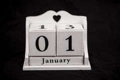 Calendar cubes January Royalty Free Stock Images
