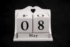 Calendar cubes May, eighth, 8, 8th Royalty Free Stock Photo