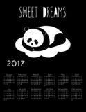 Calendar 2017 Royalty Free Stock Image