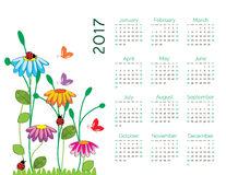 Calendar 2017 Royalty Free Stock Photos