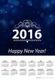 Calendar on dark blue blur background. Happy new Stock Image