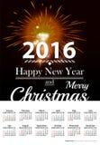 Calendar on dark red blur background. Royalty Free Stock Photo