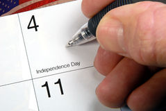 Calendar Date 4th Of July Stock Image