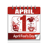 Calendar with the date of April 1. April Fools Day Royalty Free Stock Photo