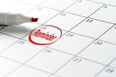 Calendar date circled for reminder Stock Photos