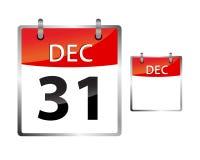 Calendar Date December 31. Vector illustration of a calendar, 31 December new years eve Royalty Free Stock Photography