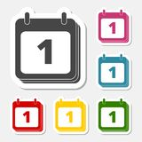 Calendar, Date or event reminder icon sign sticker Stock Photos