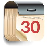 Calendar Date icon royalty free illustration