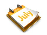 Calendar date is july Stock Photo