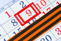 Calendar with the date of May 9 Royalty Free Stock Photo
