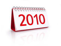 Calendar with date of New Year 2010 Royalty Free Stock Images