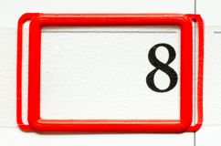 Calendar date. With number eight Stock Images