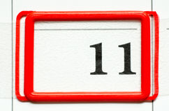 Calendar date Royalty Free Stock Photo