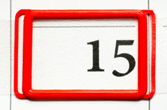 Calendar date. With number fifteen Royalty Free Stock Photography