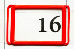 Calendar date. With number sixteen Royalty Free Stock Images