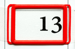 Calendar date. With number thirteen Stock Images