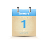 Calendar Date Page New Year 1 January Royalty Free Stock Photography