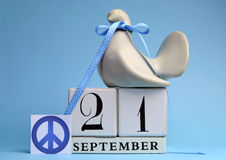 Calendar Date for September 21, International day of Peace, World Peace Day. Royalty Free Stock Images