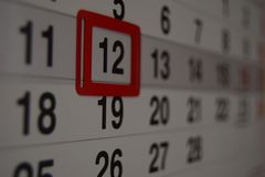 Calendar with a date shown royalty free stock photo