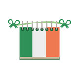 Calendar date st patricks day icon Stock Photo