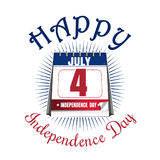 Calendar with date 4th of July US Independence Day. Independence Day icon. Happy Independence Day of America. Calendar with date 4th of July. Color icon isolated royalty free illustration