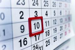 Calendar 10 royalty free stock image