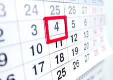 Calendar 4 Royalty Free Stock Images