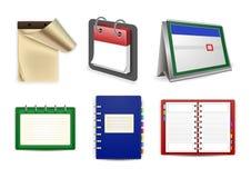 Calendar, datebook and organizer set Stock Photo