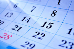 Calendar dates Stock Photos