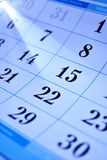 Calendar dates Stock Photo
