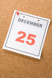 Calendar Day Christmas Royalty Free Stock Photo