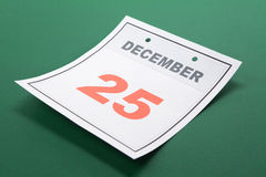 Calendar Day Christmas Royalty Free Stock Image