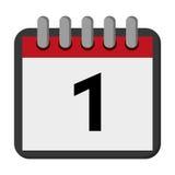 Calendar day flat icon Stock Photos