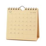 Calendar - December 2009. Desktop Calendar - December  2009, isolated in white Royalty Free Stock Image