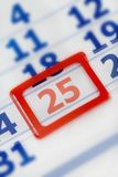 Calendar December 25th. Number 25 Royalty Free Stock Photos
