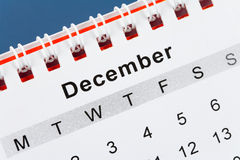 Calendar December Stock Photos