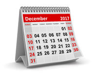 Calendar - December 2017 Royalty Free Stock Photography