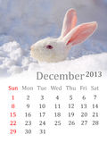 Calendar for December 2013 Stock Image