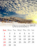 Calendar for December 2013 Royalty Free Stock Images