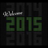 2015 Calendar- December. Simple calendar for December 2015 Royalty Free Stock Photo
