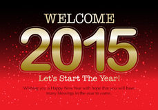 2015 Calendar- December. Simple calendar for December 2015 Royalty Free Stock Image