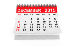 Calendar December 2015. 2015 year calendar. December calendar on a white background Stock Image