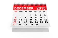 Calendar December 2015 Stock Image